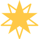 Favorite, shapes, universe, space, star, galaxy SandyBrown icon