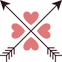 valentines, romance, romantic, Cupid, Heart, lovely, shapes Black icon