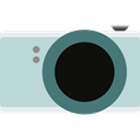 photo camera, digital, photograph, picture, technology LightBlue icon