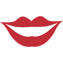 Body Part, Femenine, kiss, lips, love, romantic Black icon