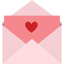 romantic, Hearts, Love Letter, romance, Valentines Day Pink icon