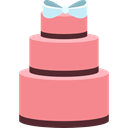 fashion, sweet, Wedding Cake, food, birthday, Dessert, Bakery LightCoral icon