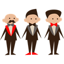 men, wedding, people, Elegant, Groomsmen Black icon