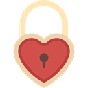 Key, padlock, Heart Shaped, love, romantic, Tools And Utensils Black icon