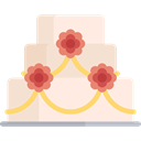 Wedding Cake, sweet, Bakery, Dessert, birthday, food MistyRose icon