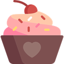 cupcake, food, Bakery, Dessert, Wedding Cake, sweet, birthday DimGray icon