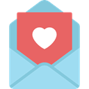 romantic, love, Heart, card, Wedding Invitation IndianRed icon