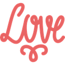 love, romantic, loving, romance IndianRed icon
