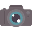 Camera, photo, photograph, photography, technology, photo camera DimGray icon