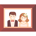 wedding, frame, picture Icon