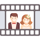 love, romantic, memories, Wedding Video, Heart, film DimGray icon