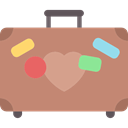 suitcase, travelling, Tools And Utensils, baggage, luggage RosyBrown icon