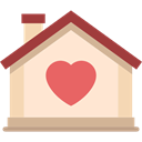 love, romantic, buildings, residence, real estate, Home, house, Heart BlanchedAlmond icon