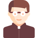 people, Occupation, Priest, pastor, job, christian, religious, profession, Man, Avatar DarkOliveGreen icon