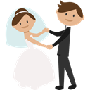 people, Wedding Couple, Bride, groom, Dancing, romantic Black icon