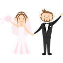 groom, romantic, Bride, Wedding Couple, people Black icon