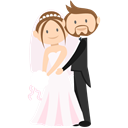Bride, Wedding Couple, people, groom, romantic Black icon