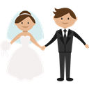 groom, romantic, people, Bride, Wedding Couple Black icon