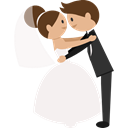 Wedding Couple, groom, Bride, people, romantic WhiteSmoke icon