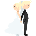 Wedding Couple, romantic, people, Bride, groom Black icon