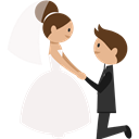 romantic, Wedding Couple, groom, Bride, people WhiteSmoke icon