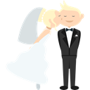 people, groom, Bride, Wedding Couple, romantic Black icon