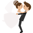 people, Wedding Couple, Bride, groom, romantic WhiteSmoke icon