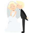 Wedding Couple, people, groom, Bride, romantic Black icon