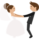 romantic, Bride, Wedding Couple, groom, people WhiteSmoke icon