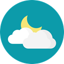 meteorology, Atmospheric, Elements, weather, Cloud LightSeaGreen icon