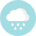 Rain, Atmospheric, Elements, weather, meteorology, Cloud LightBlue icon