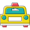 vehicle, taxi, Car, transportation, transport, Automobile Gold icon