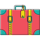 baggage, Tools And Utensils, travelling, luggage, suitcase Tomato icon