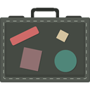 baggage, travelling, suitcase, Tools And Utensils, luggage DarkSlateGray icon