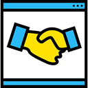 Agreement, Cooperation, Handshake, Gestures, Business, Shake Hands Black icon