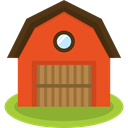 Farm, Barn, gardening, real estate, buildings Chocolate icon