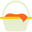 Camping, Picnic, food, Basket, fashion Beige icon