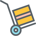 Boxes, trolley, Delivery, Cart, Logistics Delivery, transport, packages, commerce DimGray icon