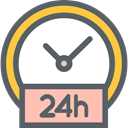 24 Hours, time, Clock, commerce, Service, Delivery DimGray icon