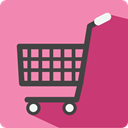 online store, shopping cart, commerce, Supermarket, Shopping Store HotPink icon