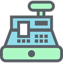 Shopping Store, Cash Register, payment, Purchase, commerce, buy DimGray icon