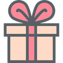 surprise, Christmas Presents, birthday, present, gift DimGray icon