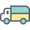 Delivery Truck, transport, Lorry, truck, Automobile, Cargo Truck DimGray icon