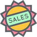 Badge, Sales, online store, sticker, commerce, Badges DimGray icon