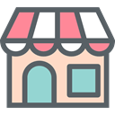 Coffee Shop, Restaurant, Business, store, Shop, buildings DimGray icon