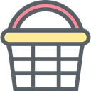 shopping basket, commerce, Shopping Store, Supermarket, online store DimGray icon