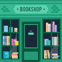 buildings, Business, Book Shop, Shop DarkSlateGray icon