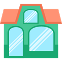Shop, Business, store, Restaurant, buildings PaleTurquoise icon