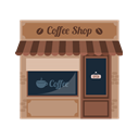 Business, Shop, Coffee Shop, buildings RosyBrown icon