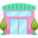 Restaurant, buildings, Shop, Business, store PaleTurquoise icon